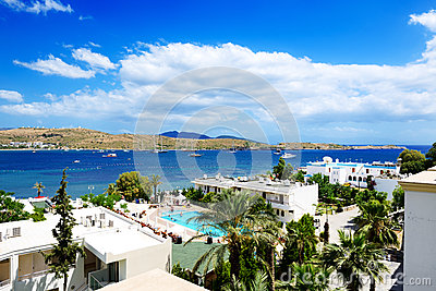 The beach on Aegean Turkish resort