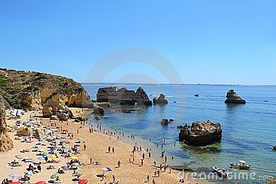 Beach in Algarve, Portugal Editorial Photography