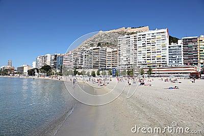 Beach in Alicante, Catalonia Span Editorial Stock Image