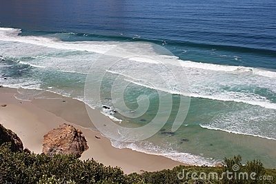 Beach along south africas coastline