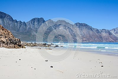 Beach along south africas coastline