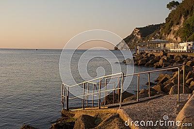 The beach of Ancona