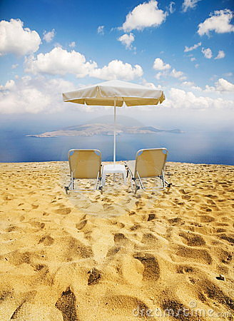 Free Beach And Two Chairs Stock Image - 11072991