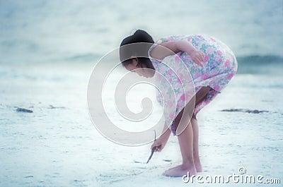 Beach Artist (soft focus)