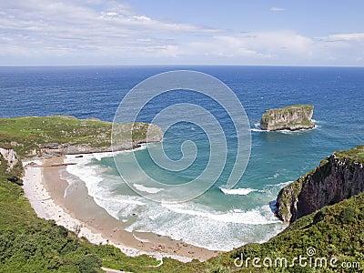 Beach in asturias, Spain