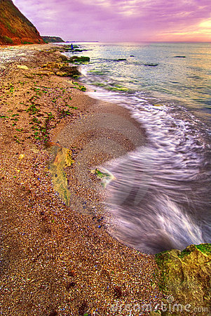 Free Beach At Sunset Stock Image - 3045981