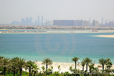 Beach of Atlantis the Palm hotel
