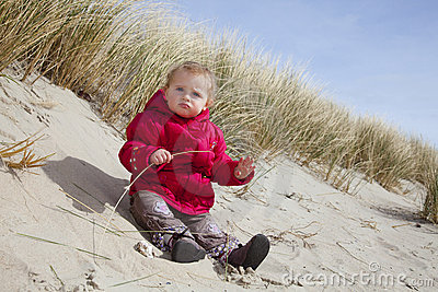 Beach - Baby playing in Sand
