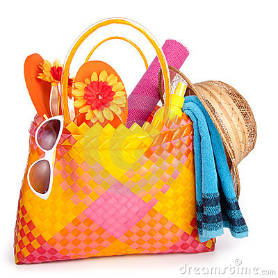 Free Beach Bag Royalty Free Stock Photo - 18862165
