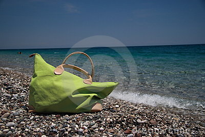 Beach bag, summer holiday