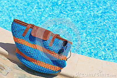 Beach bag on summer vacation