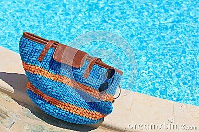 Beach bag on summer vacation