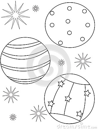 Simple Beach Ball Coloring Page With