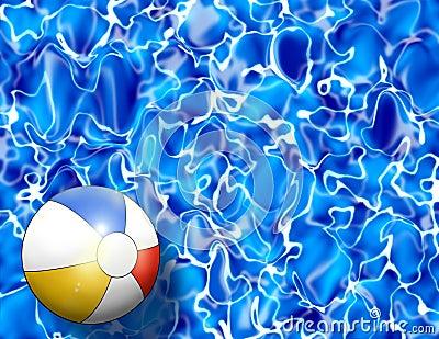 Beach Ball In Water beach ball in water