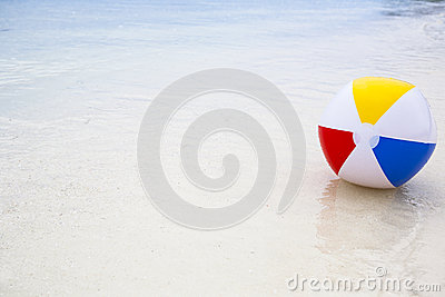 beach ball in the sea