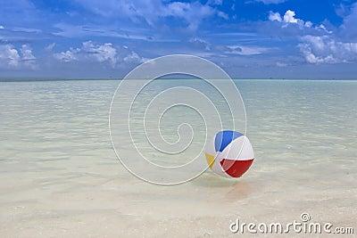 beach ball in the sea