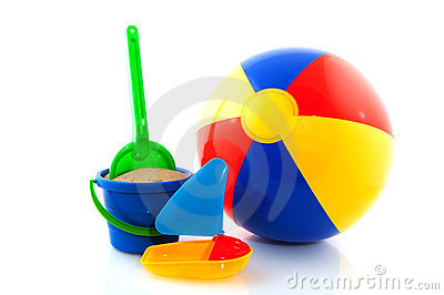 Beach ball with toys