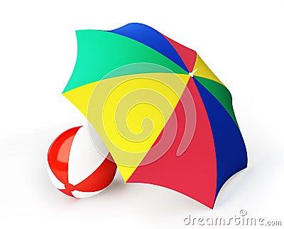 Beach ball umbrella beach