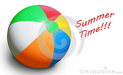 Beach ball on white
