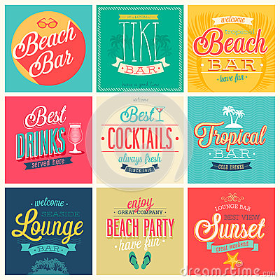 Free Beach Bar Set Royalty Free Stock Image - 38480116