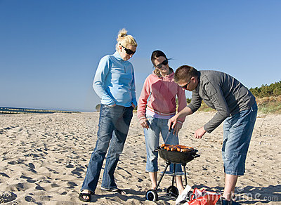 Beach Barbecue Stock Photography - Image: 5142422