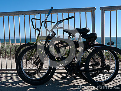 Beach bicycles Santa Cruz California