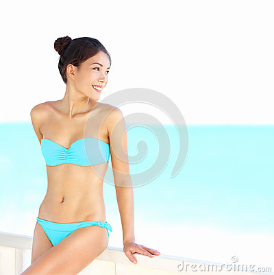 Beach bikini woman beauty