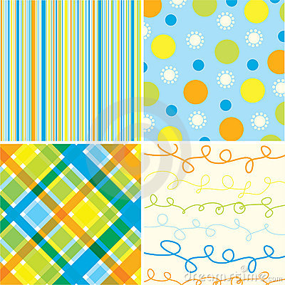 Free Beach Blue Orange Pattern Stock Photo - 3023070