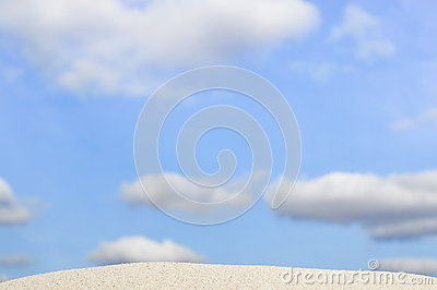 Beach And Blue Sky In Background Royalty Free Stock Photography - Image: 25069847