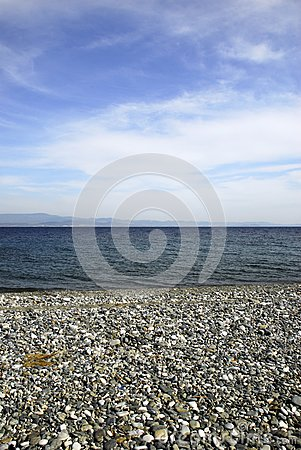 Beach with blue sky and sea