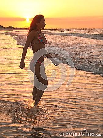 Beach Brazilian girl