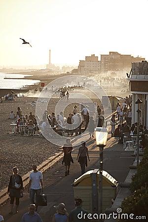 Beach in Brighton Editorial Stock Photo