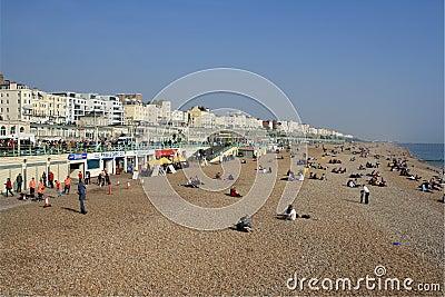 The beach at Brighton, UK Editorial Photography