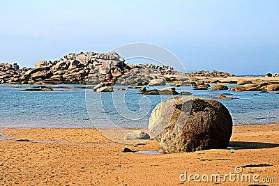 A beach in Brittany