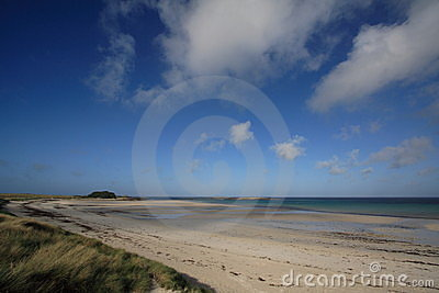 Beach in Brittany, France