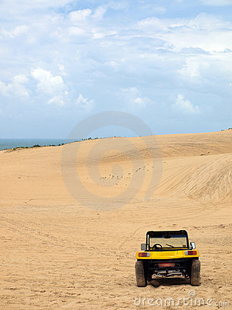 Free Beach Buggy In Sand Dunes Royalty Free Stock Image - 13591966