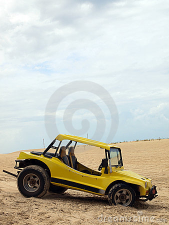 Beach buggy in sand dunes
