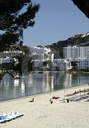 Beach and buildings at Majorca