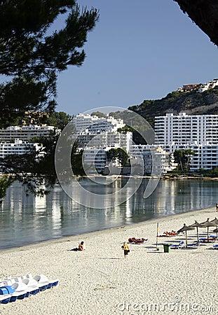 Beach and buildings at Majorca