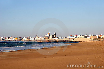 Beach of Cadiz, Spain
