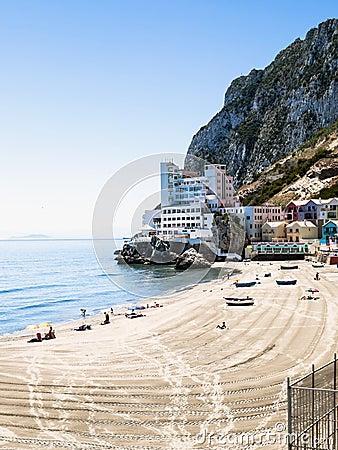Beach of the Caleta Editorial Photography
