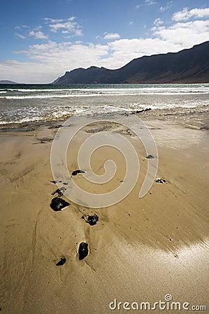 Beach at Caleta de Famara, Lanzarote