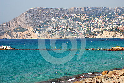 Beach in Calpe, Spain Editorial Stock Image