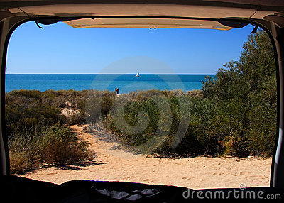 Beach from Camper Van