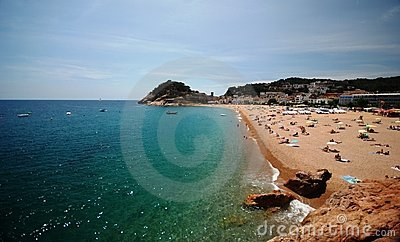 Beach in Catalonia, Spain Editorial Image