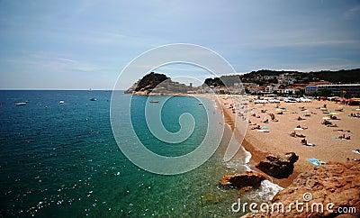 Beach in Catalonia, Spain Editorial Image