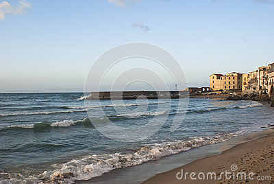 Beach of Cefalu.Sicily