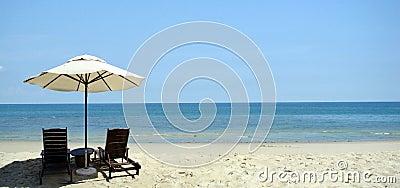 Beach and chair