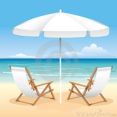Free Beach Chair Royalty Free Stock Images - 15257349