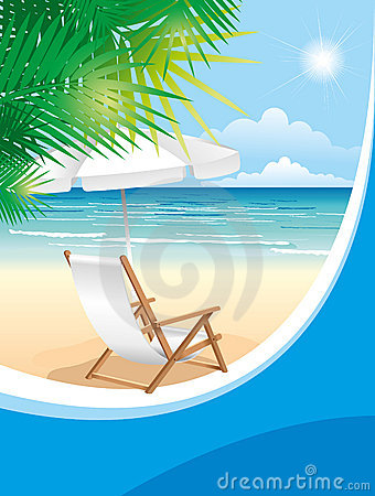 Free Beach Chair Stock Images - 15257364